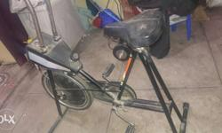 Black Metal Stationary Bike