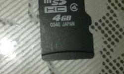 Black Micro SD HC Memory Card 4 GB