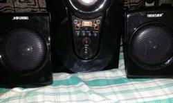 Black Multimedia Speaker System working very well can