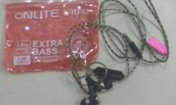 Black Onlite Extra Bass Canalbuds With Package