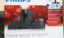 Black Philips Multimedia Speaker System Box
