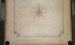 Black Red And Brown RDM Carrom Board with the coin set