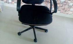 Black Rolling Armchair