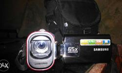 Black Samsung Camcorder With Case