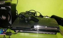 Black Sony Playstation 3 Slim