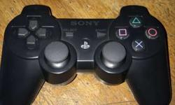 Black Sony Ps3 Game Controller