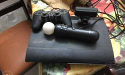 Black Sony PS3 With Controller with joystick and Camera
