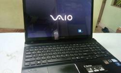 Black Sony Vaio Laptop