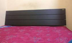 Black Wooden cot and bed.. queen size.. price