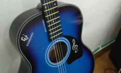 blue and black Acoustic guitar, This guitar is best for