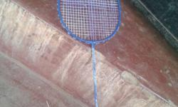 Blue And Black Badminton Racket