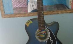 Blue and Black colord Acoustic guitar