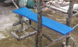 Blue And Black Steel Bench Press