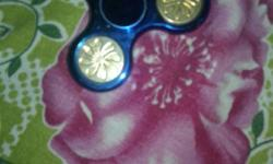 Blue And Gold 3-bladed Fidget Spinner