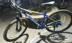 Scott Blue And Green Hard Tail Bike in Good condition,