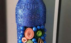 Blue And Pink Decorative Bottle