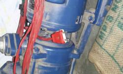 Blue And Red Hydraulic Equipment