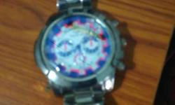 Blue And Silver Chronograph Watch urgent