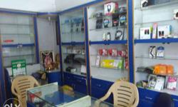 Blue And White Display Cabinet display showcase (8