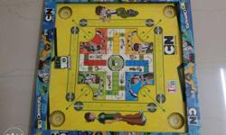 Blue And Yellow Framed Cartoon Network Carrom Board