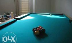 Blue Billiard Table
