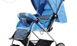 blue colour brand new pram is out for sale