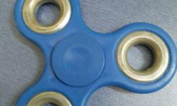 Blue Fidget Hand Spinner . It spin time is 5 min