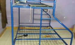 Blue Metal Bunk Bed