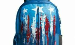 Blue, White, And Red Stars Print Backpack