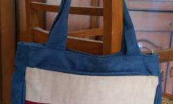Blue, White, Red And Black Tote Bag
