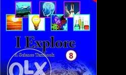 book of class 8 science book { I EXPLORE } AT 12O