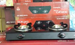 Brand new surya accent original 2 burner glass top With