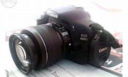 Rarely Used 6 months Old Canon 600 D(1yr Warranty) for