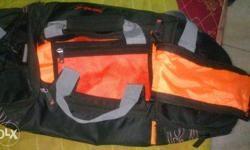 Black And Orange Duffle Bag