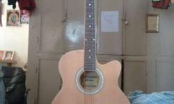 brand new accoustic guitar(Hertz) with added pickup, 2
