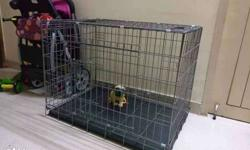 Brand new Metal crate with two doors for adult dogs
