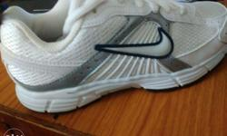 new nike white sport shoes size no 1.original price