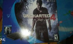 brand new PS4 with uncharted 4 game sealed pack