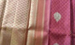 Brand new Kanjivaram Silk saree with real gold work.