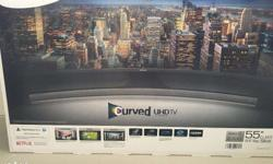 This is a brand new Samsung 55 inch LED Smart Curved 4K