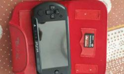 brand new sony psp with leather case and a 8 gb sony