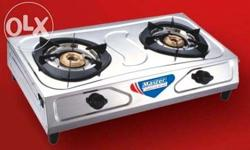 Brand new surya 2 burner stainless steel gas stove