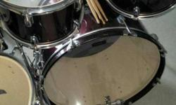 Brown Drum Set in brand new condition. Only 6 months