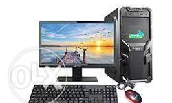 "Intel pentium4 1GB Ram 80GB HDD 15"" LCD Monitor with"