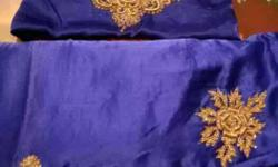 Brown-and-blue Textiles