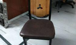 Brown And Black Padded Chair-3