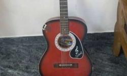 Brown And Black Sunburst Dreadnought Acoustic Guitar