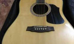 Brown And Black Wooden Acoustic Guitar Dreadnought PRLD