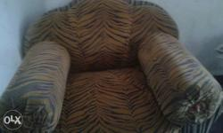 Brown And Black Zebra Print Armchair