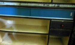 Brown And Blue Wooden counter for jwellary shop or